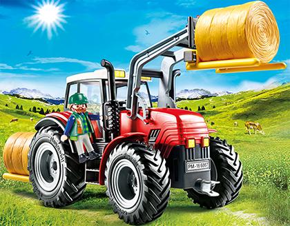 Playmobil riesentraktor mit spezialwerkzeugen
