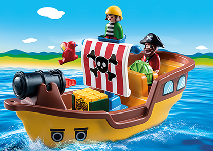 Playmobil 1.2.3 9118 Piratenschiff