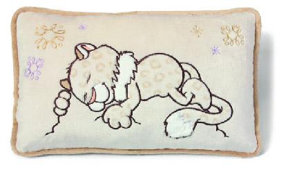 Nici kissen schneeleopard mädchen rechteckig 43 x 25 cm 36072