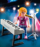Playmobil 9095 Sängerin am Keyboard