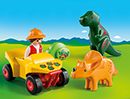 Playmobil 1.2.3 9120 Dinoforscher mit Quad