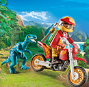 Playmobil 9431 Motocross-Bike mit Raptor