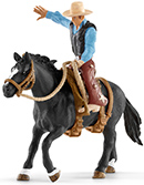 Schleich Saddle bronc riding mit Cowboy Farm World 41416