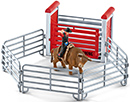Schleich Bull riding mit Cowboy Farm World 41419